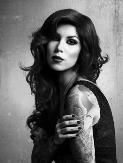 Kat Von D- amazing artist and strong woman! I want to get a tattoo of my grandma from her one day! Sh and Deadmau5 make an amazing couple!! :)