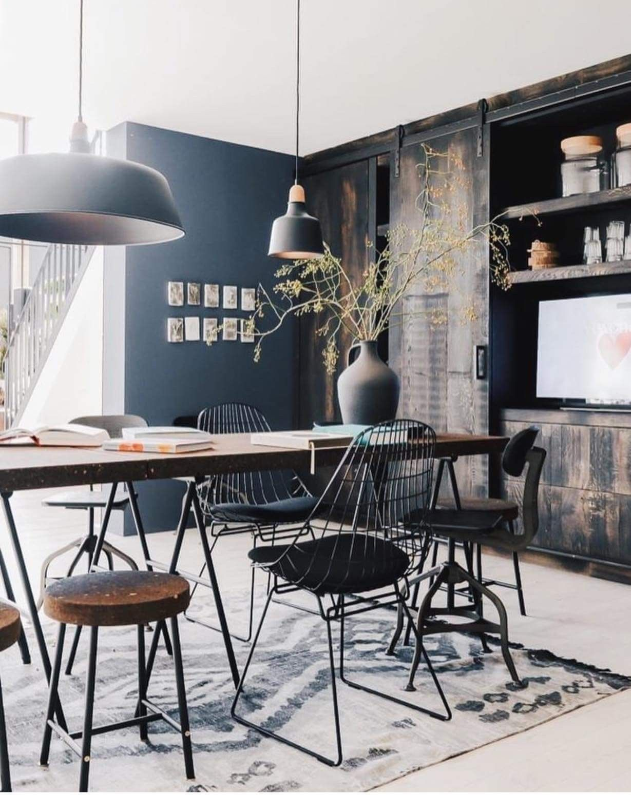 Moodboard Collection Industrial Interior Design Dining Room