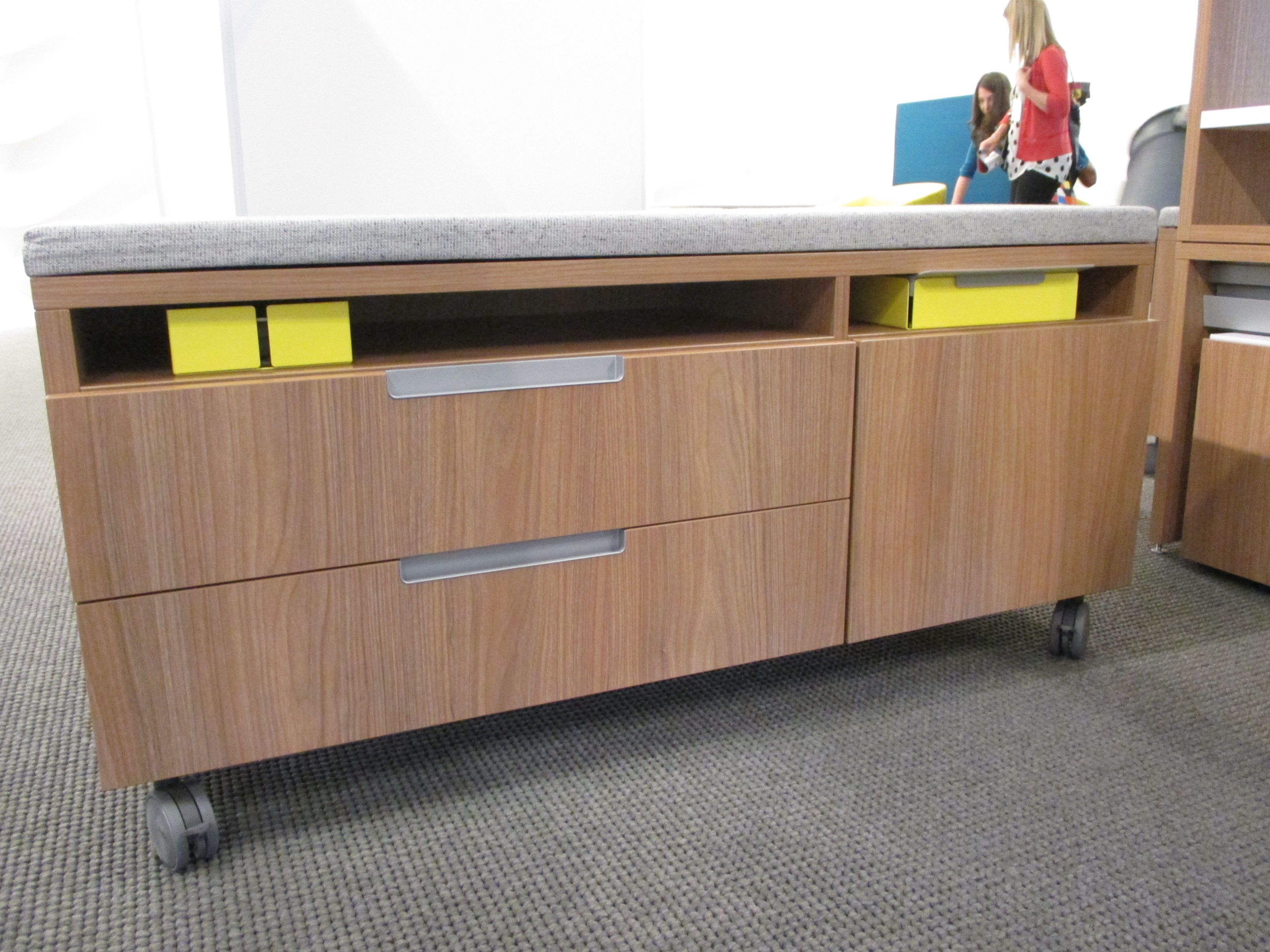 Teknion Upstage storage credenzas with fun storage options and on ...