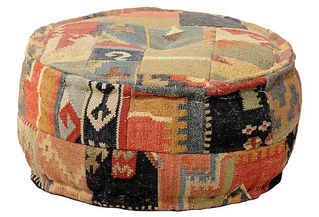 Malkara Kilim Pouf On Onekingslane Com Classic Home Furniture