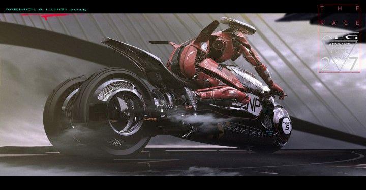 Cern 05 Bike Concept and Droid by Luigi Memola - Design Render