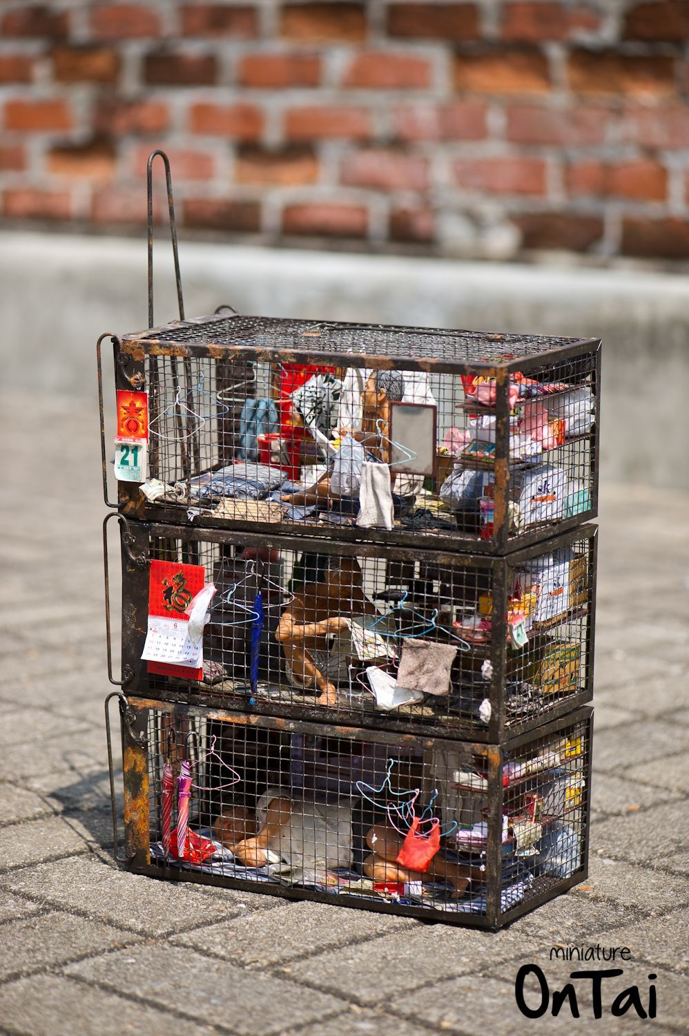 Cage Home Miniature Model By Ontai Tiny World Stop Motion Box