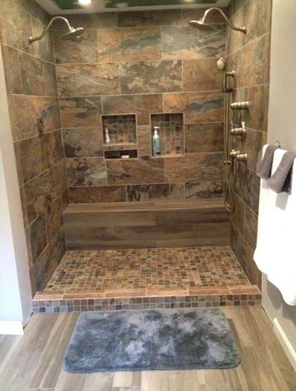 Beautiful Shower Tile Ideas For Your Bathroom Rustic Master