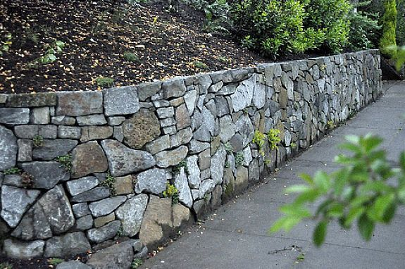 rock retaining wall design ideas Gardenoutdoor Pinterest
