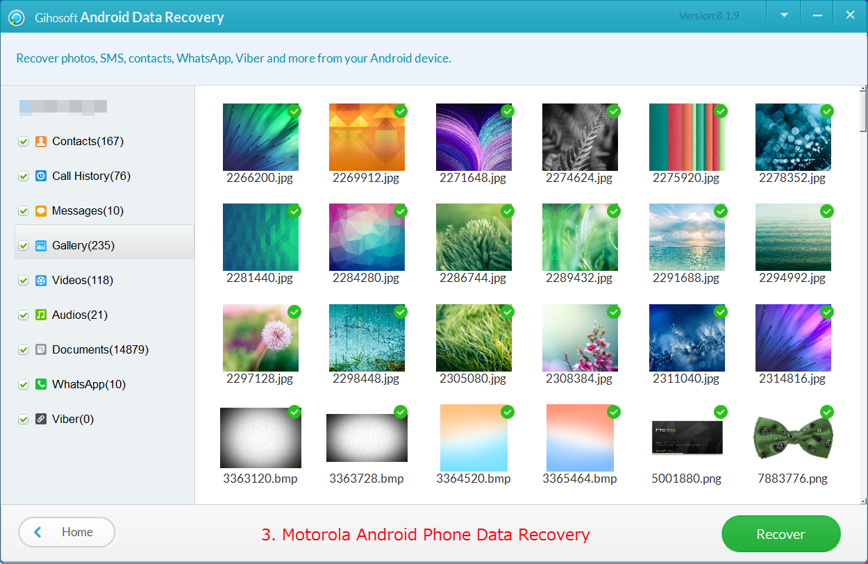 Gihosoft Free Android Data Recovery, a professional Android