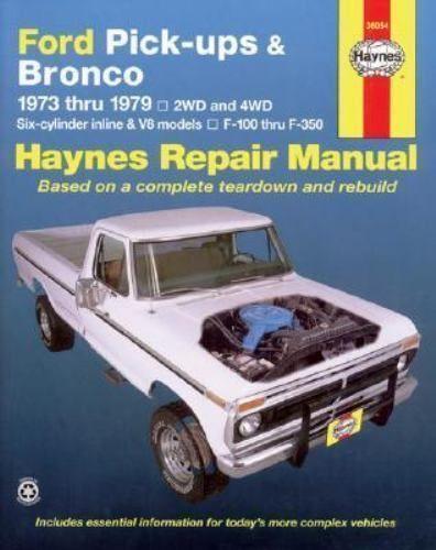 haynes repair manual ford pickups and bronco 1973 1979 no 788 by rh pinterest com Ford Truck Chilton Repair Manual Ford Truck Chilton Repair Manual