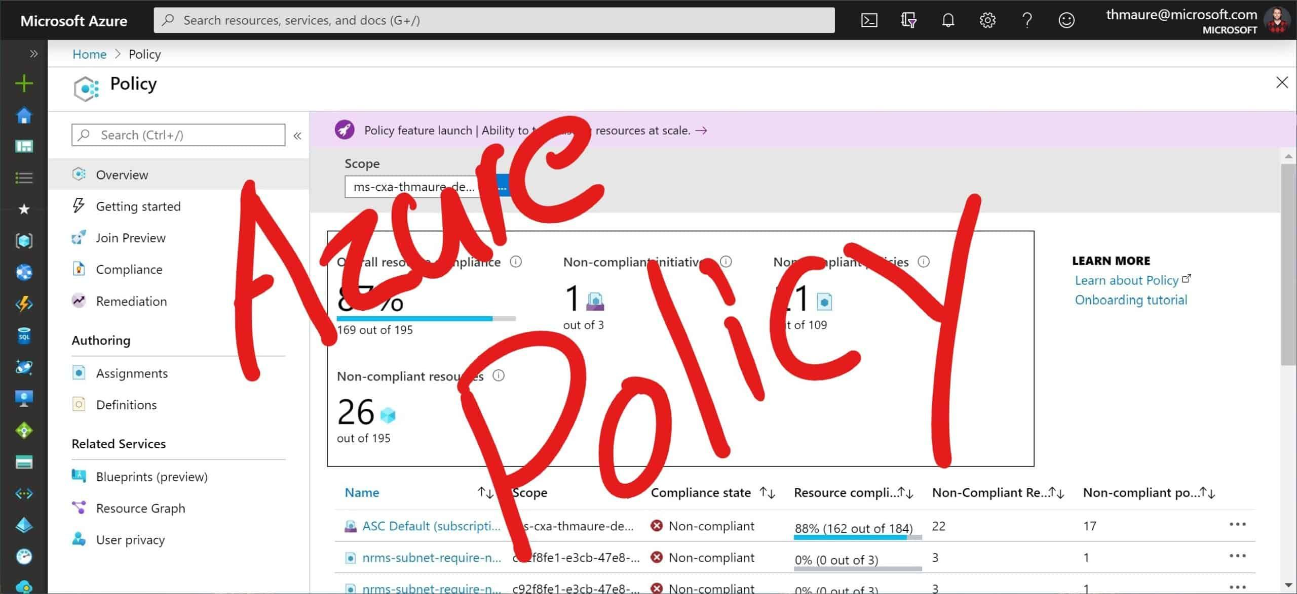 Keep control of your Azure environment with Azure Policy