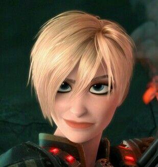 Disney Asymmetric Modern Wreck It Ralph Woman Drawing Short Blonde Hair