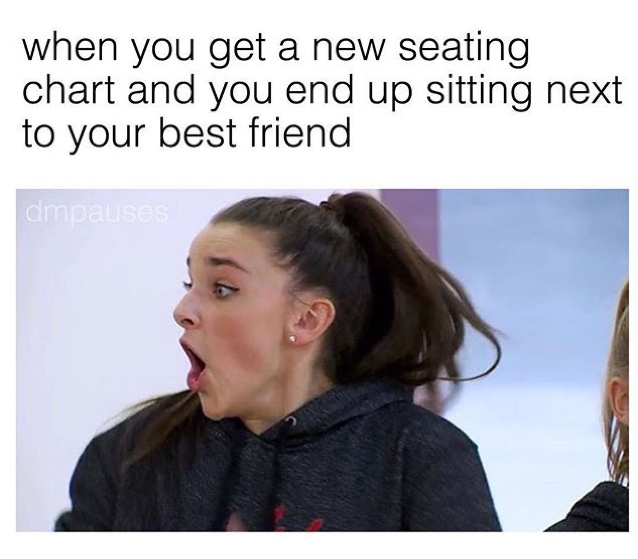 in my history class, i got sat in between my bff and crush