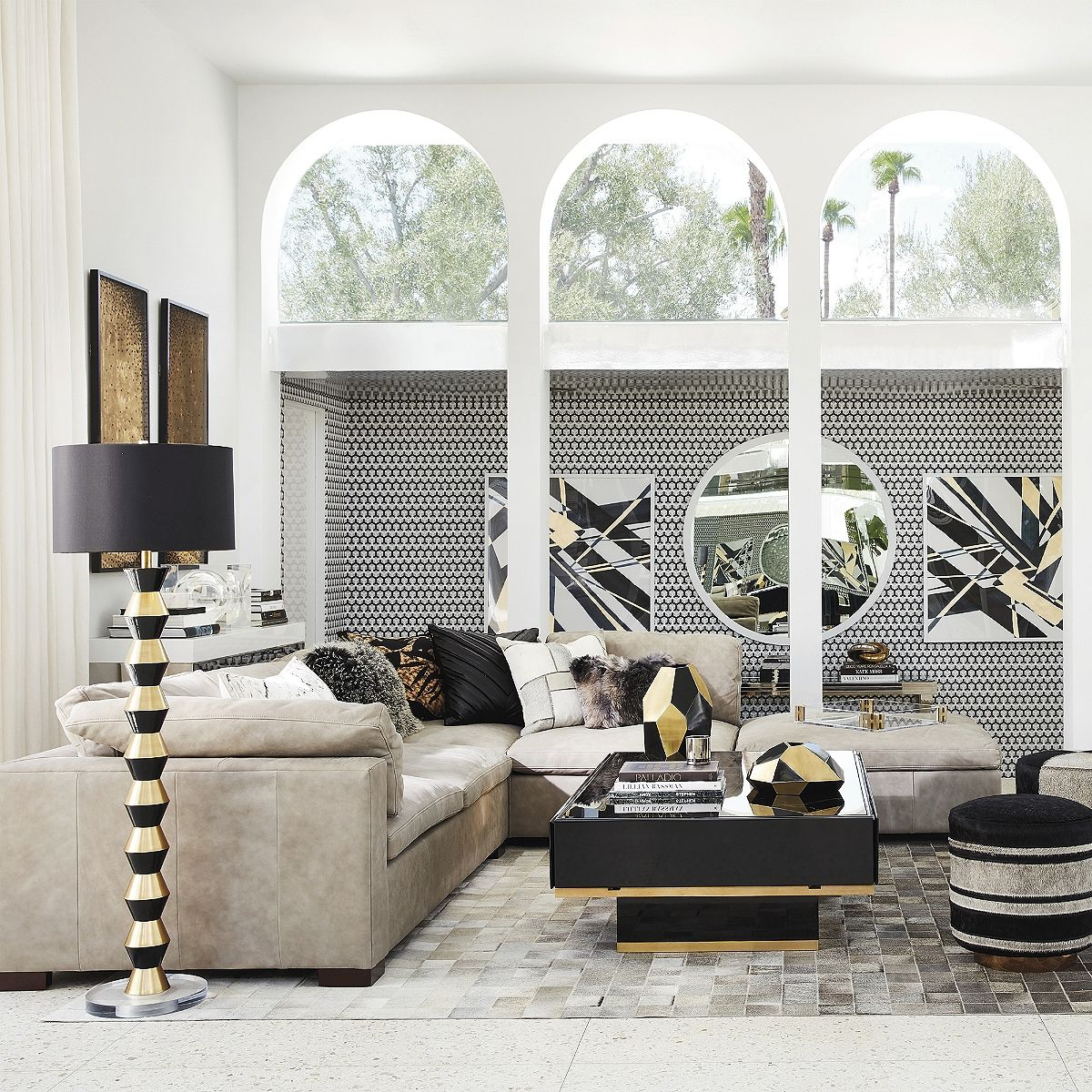 The sumptuous proportions and modern aesthetic of