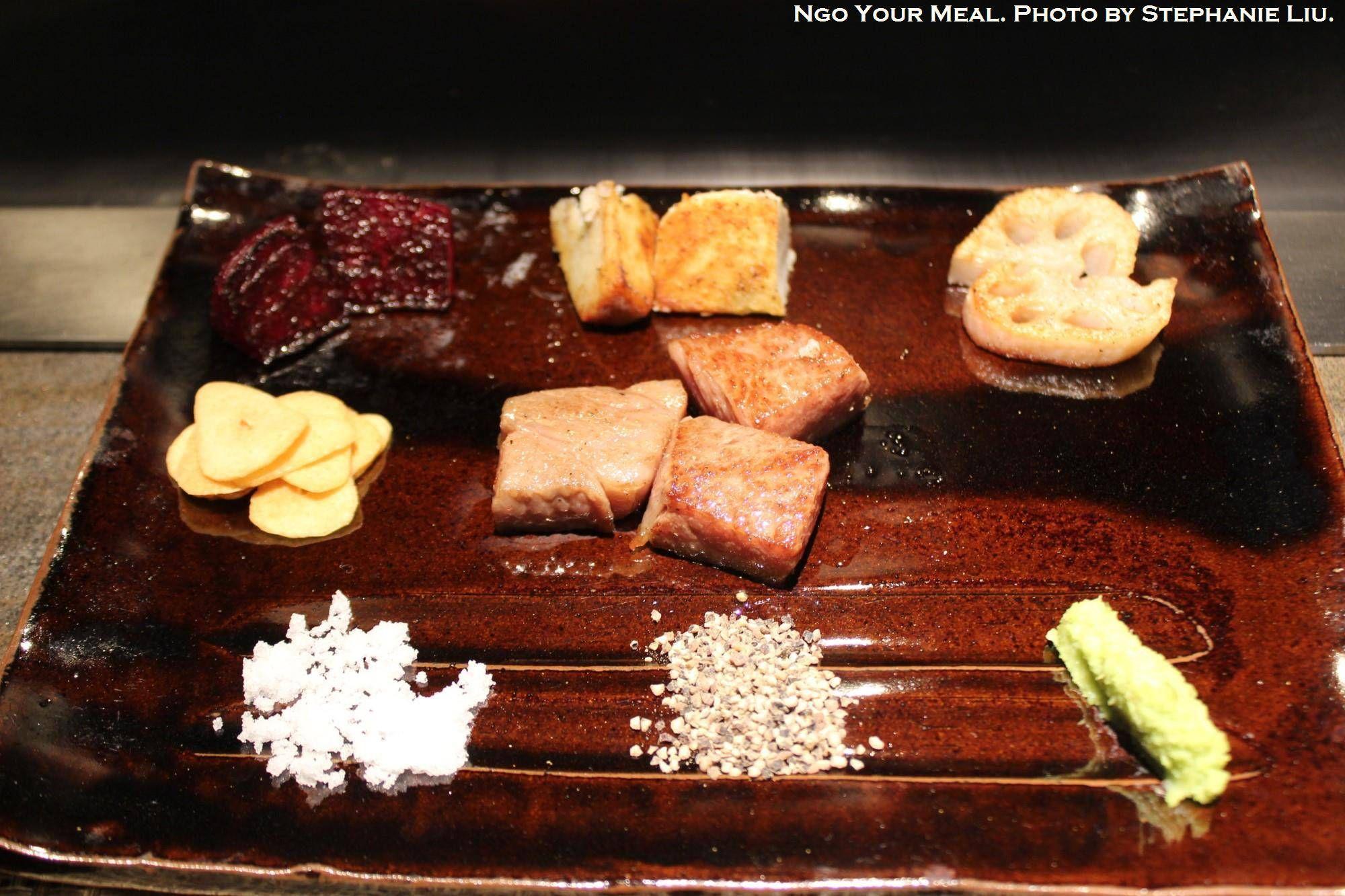 Kobe Rib-eye and Mouriya Special Select Rib-eye at Mouriya