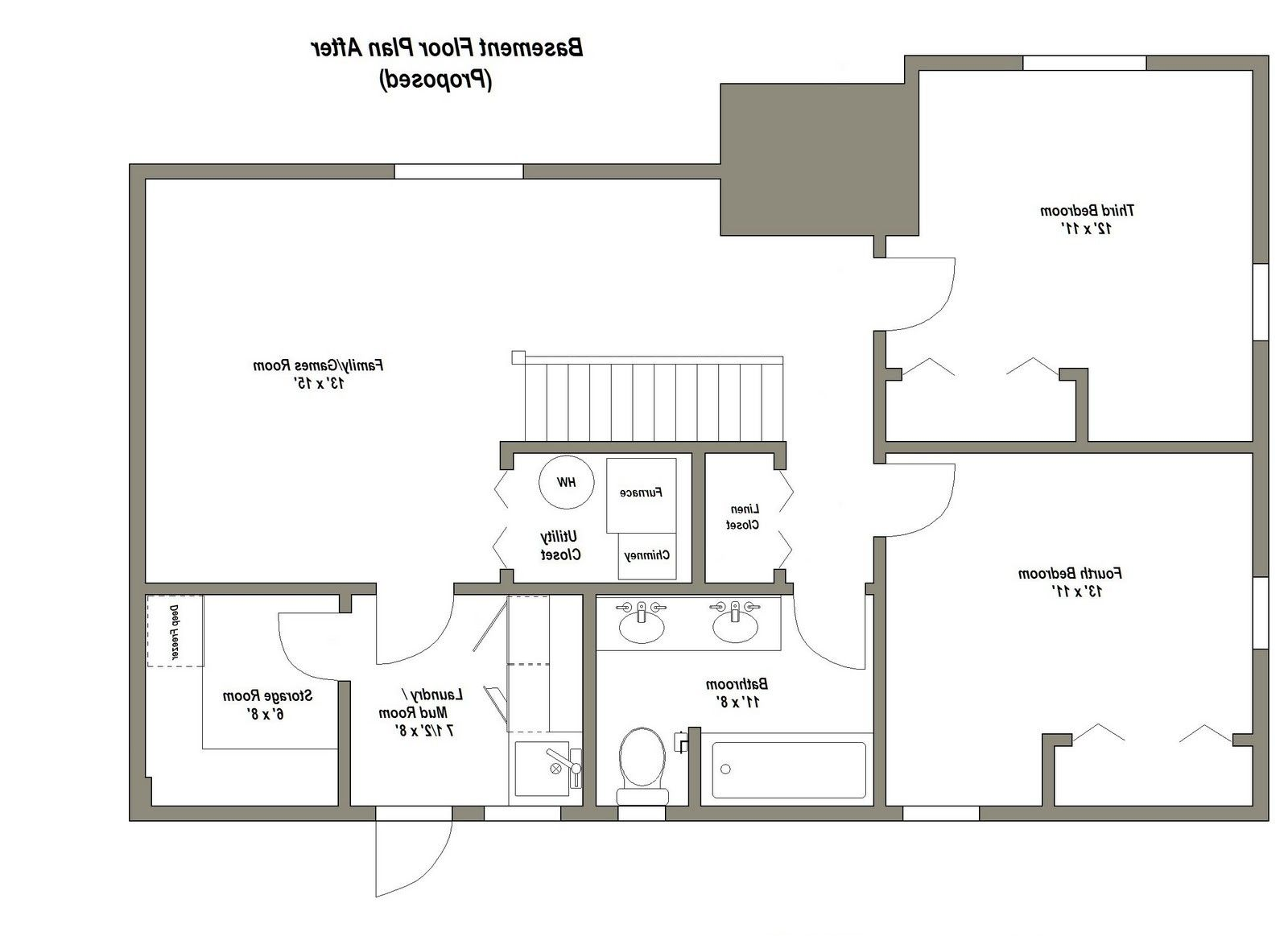 Best 25 Basement Floor Plans Ideas On Pinterest Basement Plans From Basement Remodeling Floor Plans