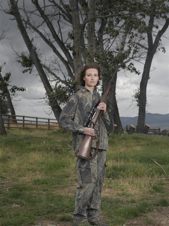 A perfect shot Photos of women with guns explode