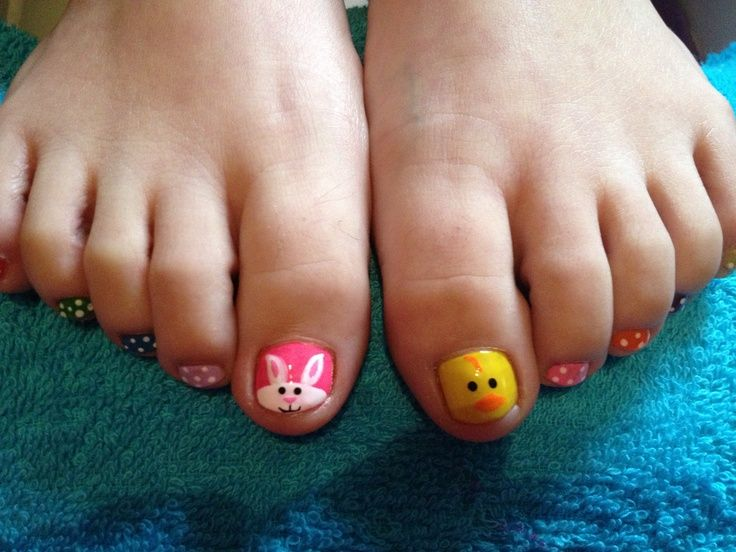 5 Toe Nails For Easter I Found On Pinterest