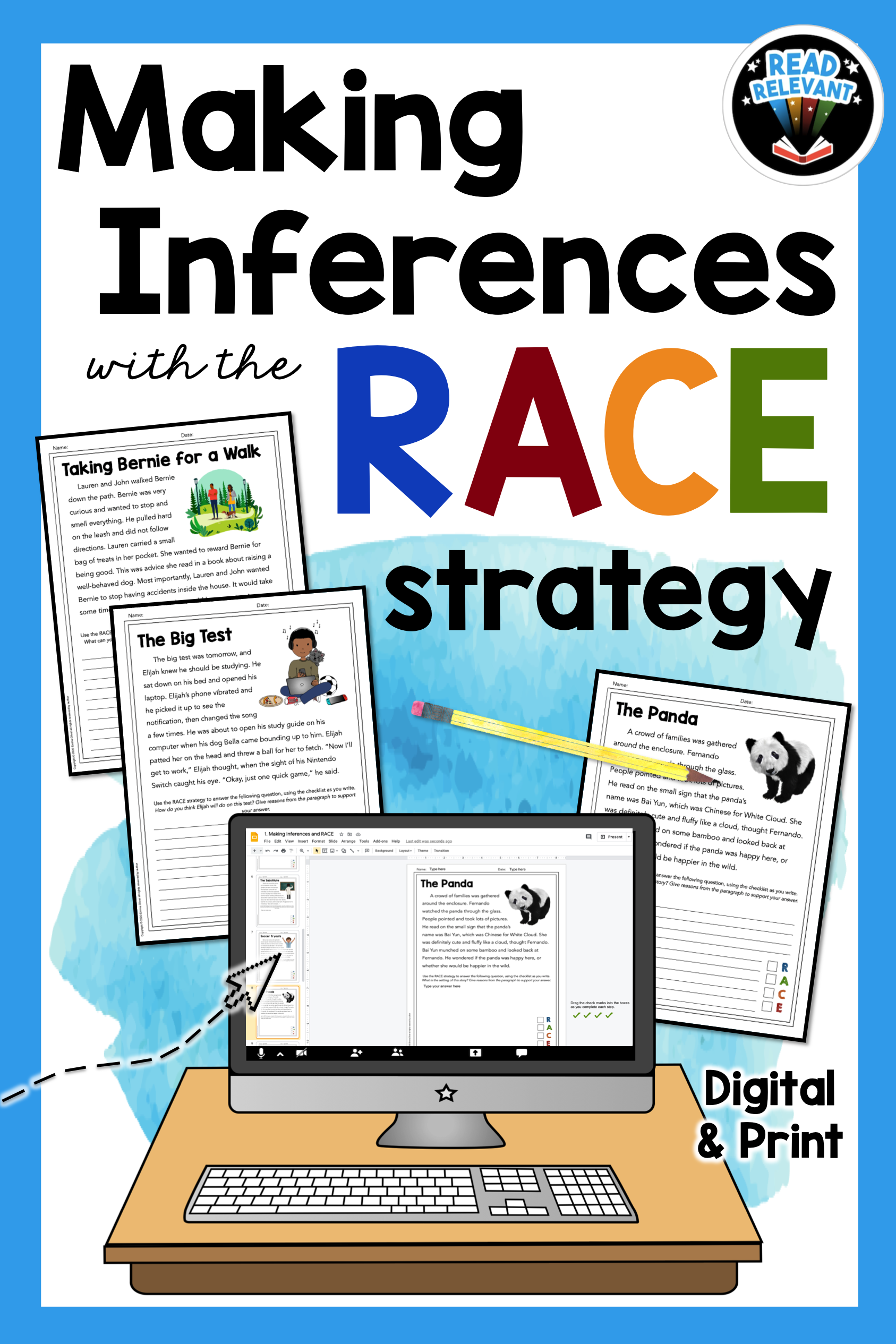 Making Inferences Reading Passages And Questions For The Race Writing Strategy In 2021 Reading Passages Races Writing Strategy Race Writing [ 2531 x 1687 Pixel ]