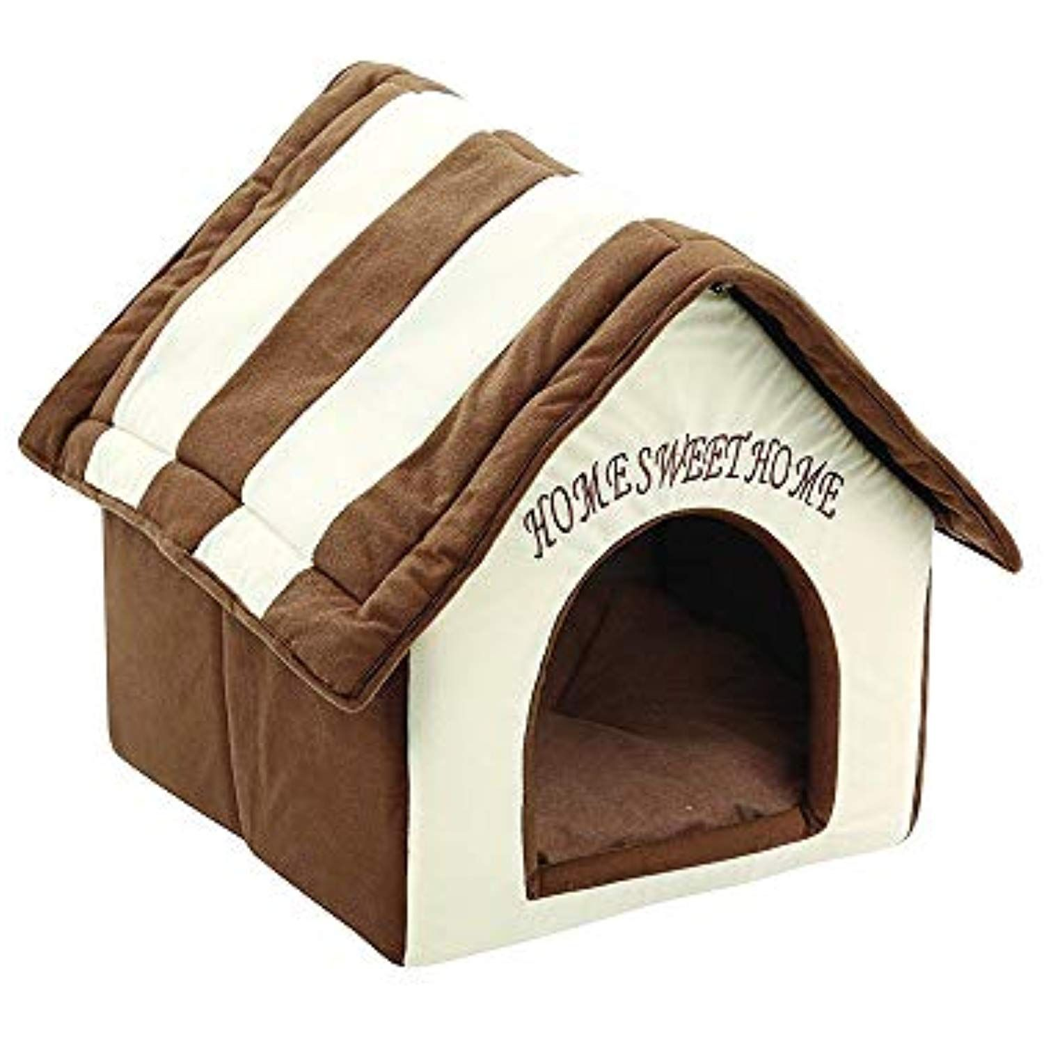 Pet Dog Cat Bed House Portable Indoor Sweet Room Soft Warm And