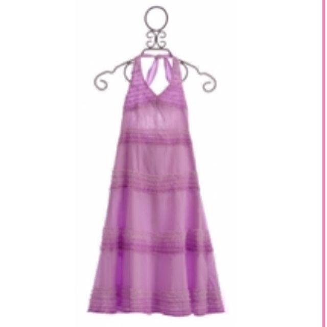 Kate Mack Enchanted Orchid Tween Maxi Dress Lilac