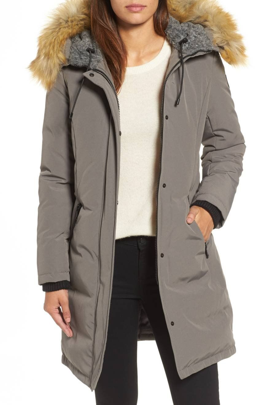 Vince Camuto Down Feather Fill Parka With Faux Fur Trim Nordstrom Winter Coats Women Cold Weather Cold Weather Parka Winter Coat Parka [ 1318 x 860 Pixel ]