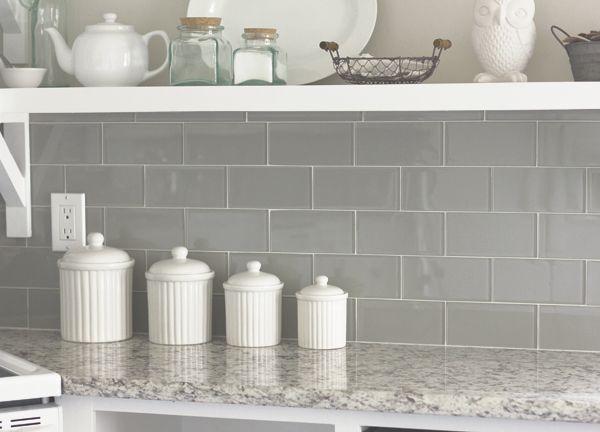 Glass And Granite Done Right! Emser Tile   Lucente Morning Fog. Glass Tile