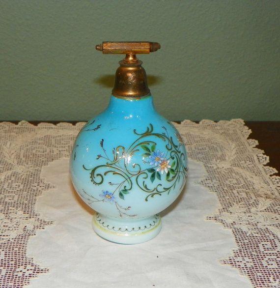 Antique Bristol PERFUME BOTTLE Cruets Oil by FavrileFinds on Etsy