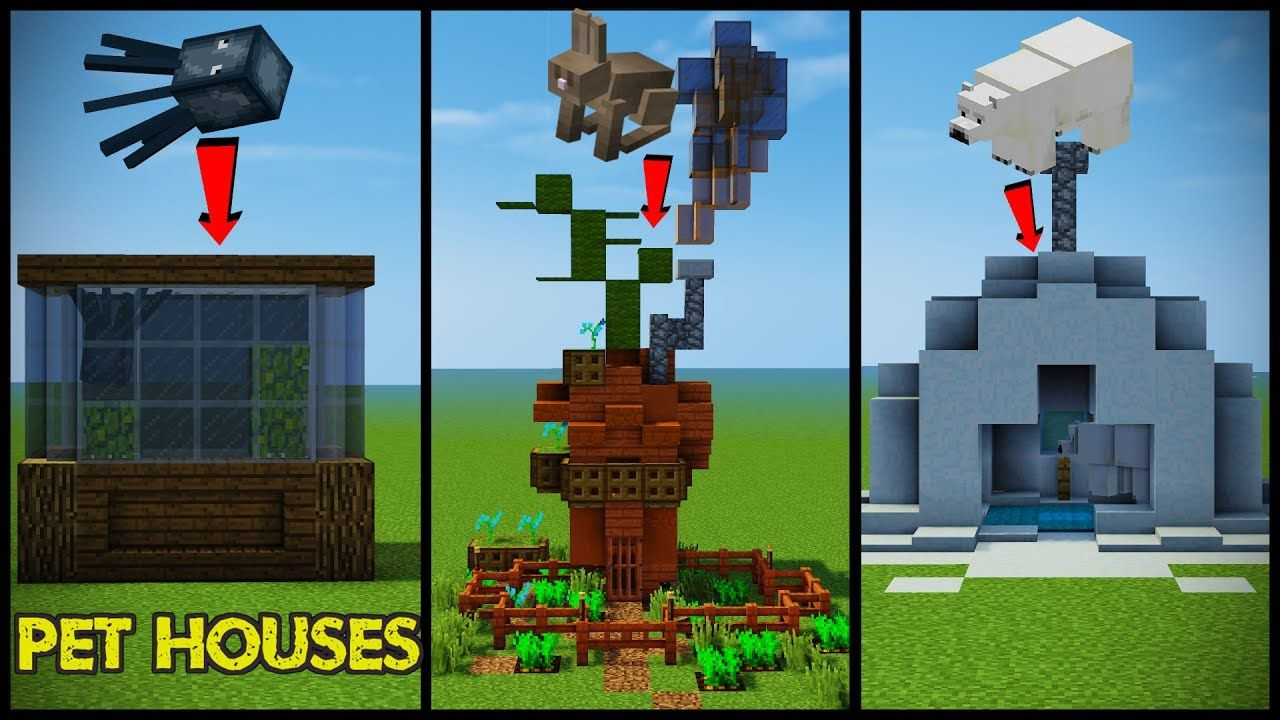 34 Minecraft Pet Animal House Designs Minecraft Houses