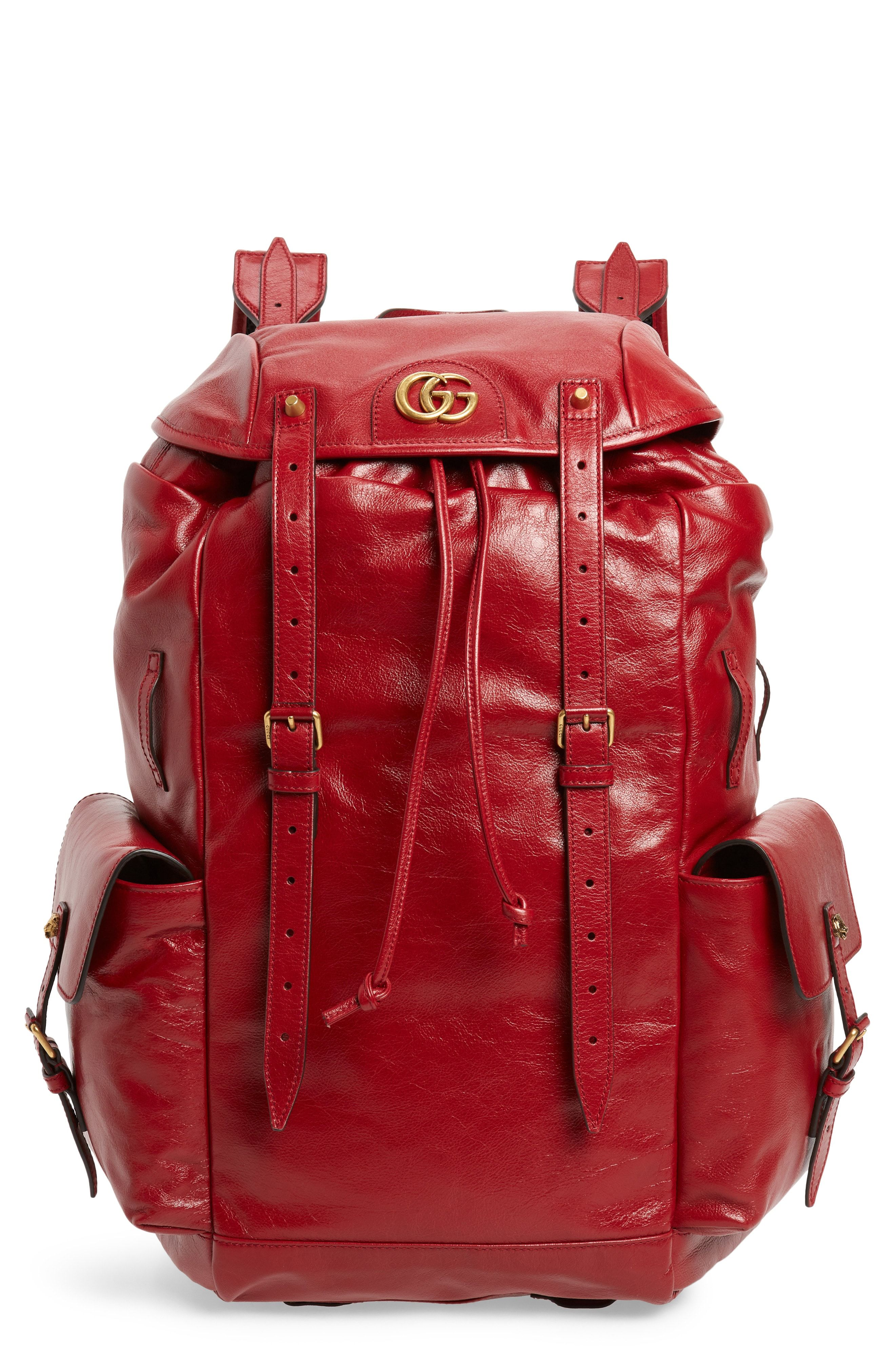 001d5867ffc0 Gucci Piuma Leather Travel Backpack available at  Nordstrom