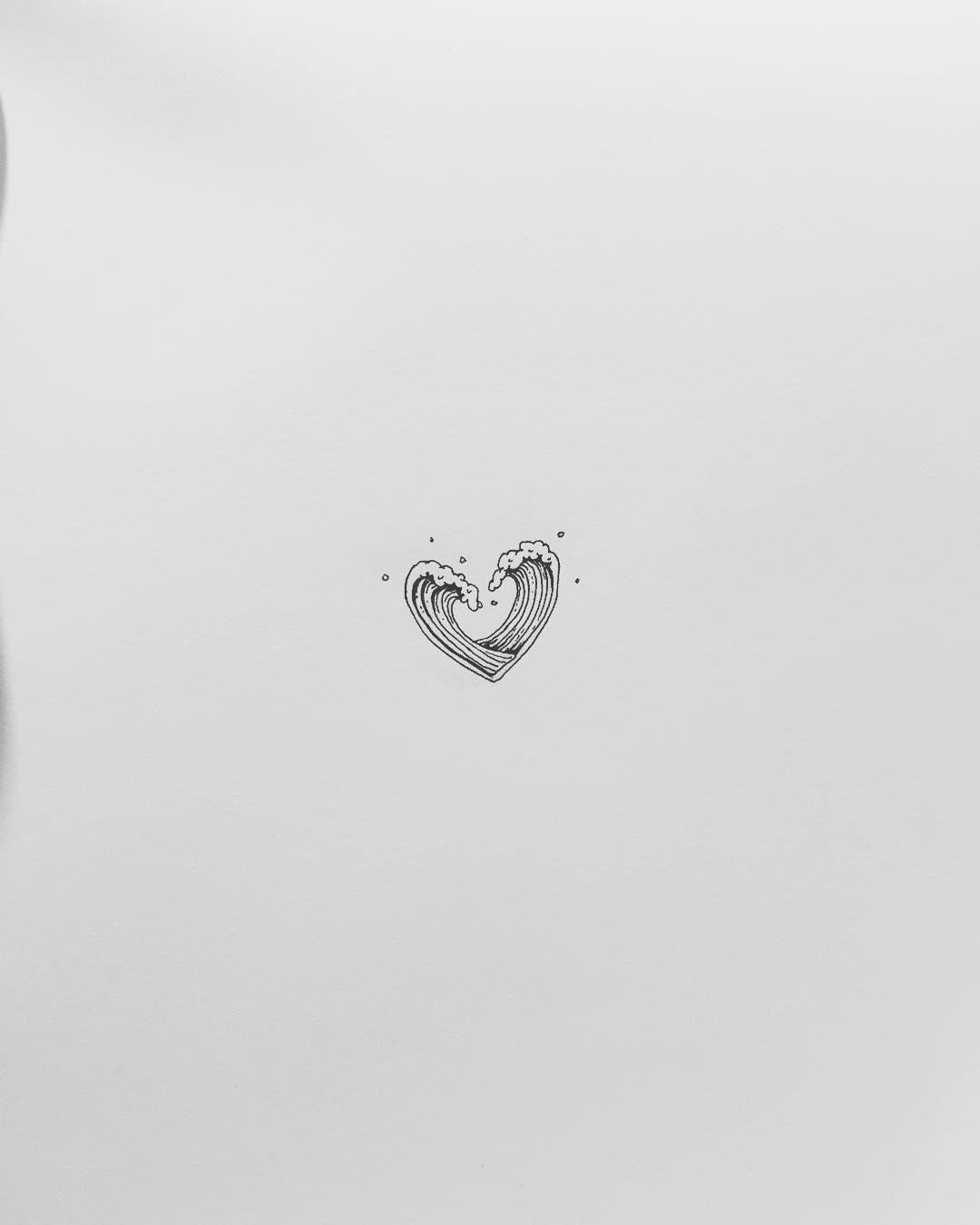 Dessin de vagues en forme de coeur id e de tatouage see this instagram photo by masa tattooer - Dessin en forme de coeur ...