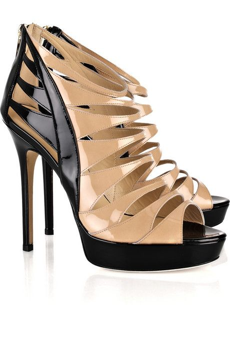Jimmy Choo costa two tone patent leather sandals