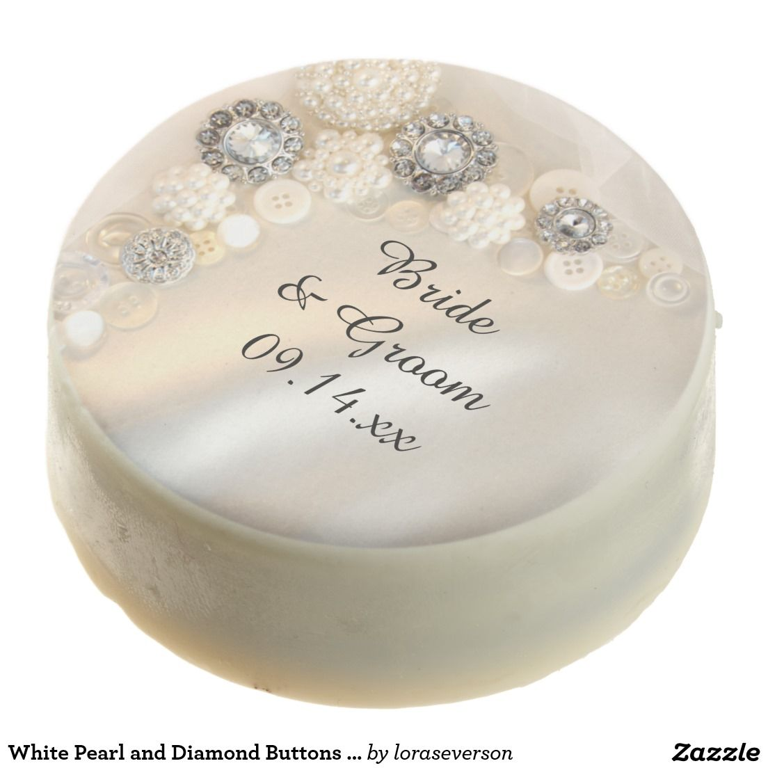 White Pearl and Diamond Buttons Wedding Chocolate Covered Oreo ...