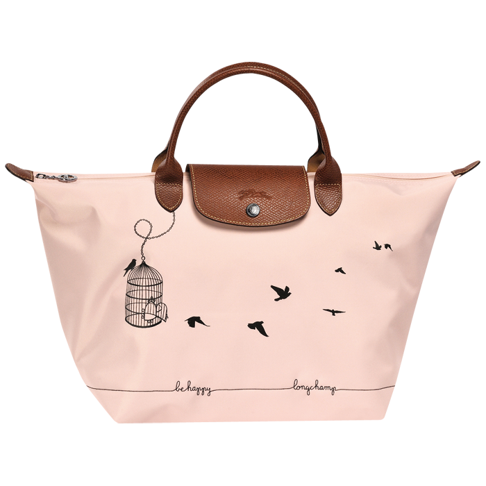 Main Sac Longchamp Oiseaux Motif À XfFf1z