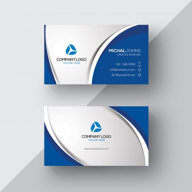 Download Silver And Blue Business Card For Free Blue Business Card Free Business Card Templates Glossy Business Cards