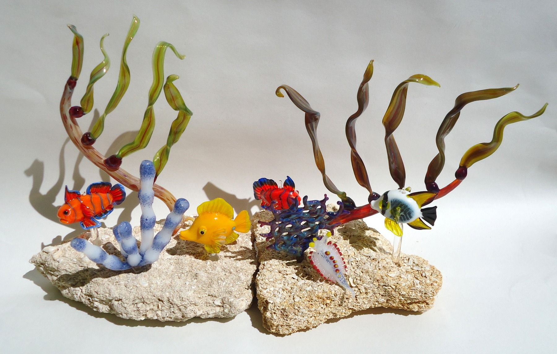Aquatic Immersion, Just Dive In! Boro and Soft Glass Marine vignettes!