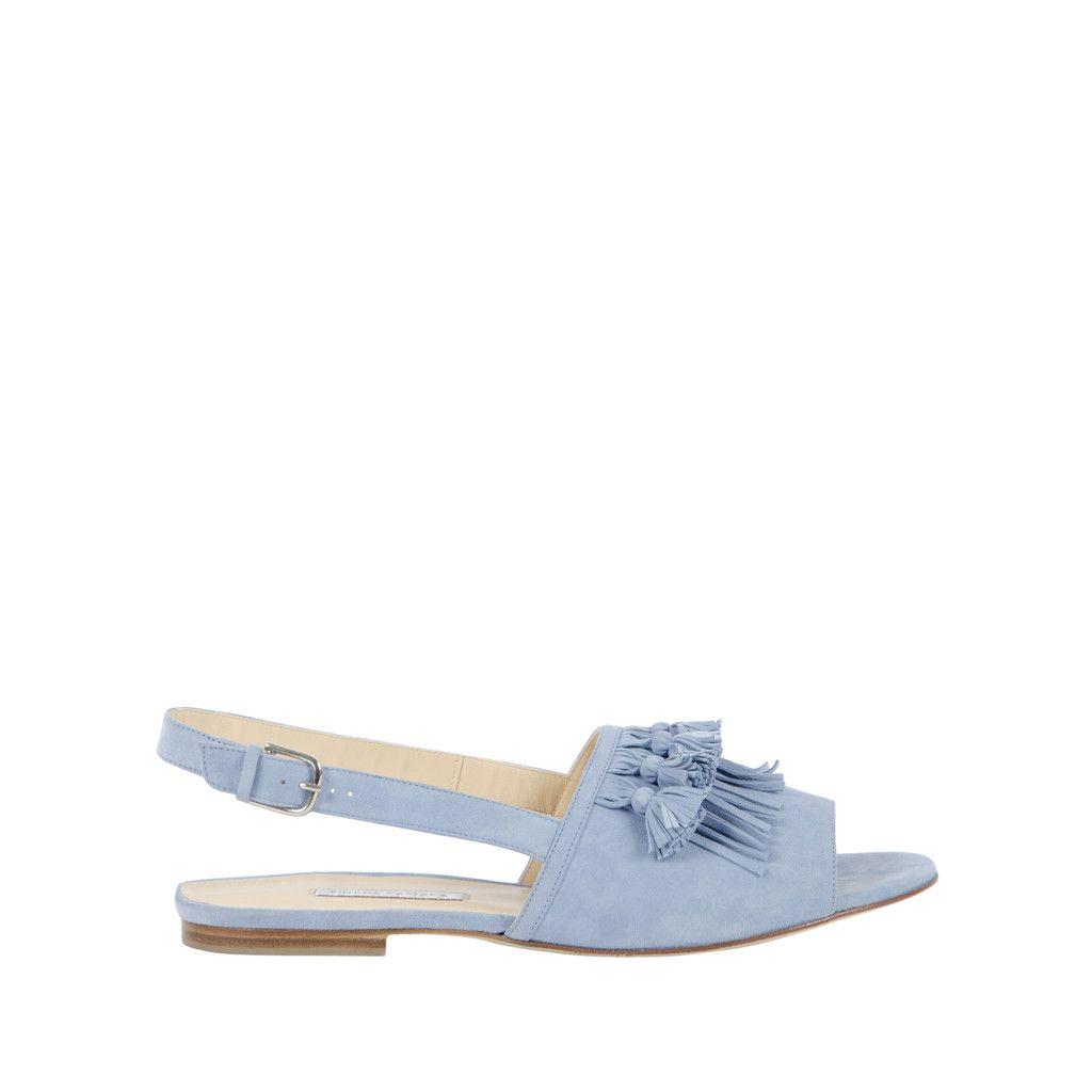 d828236b41d36  Aian  - Cornflower Tassel Detail Open-Toe Flat Sandal Bionda Castana  designs are