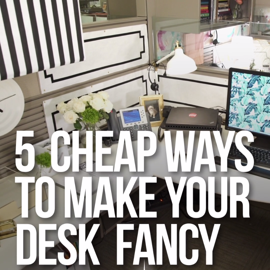 5 cheap ways to dress up your desk office pinterest for Cheapest way to build a home