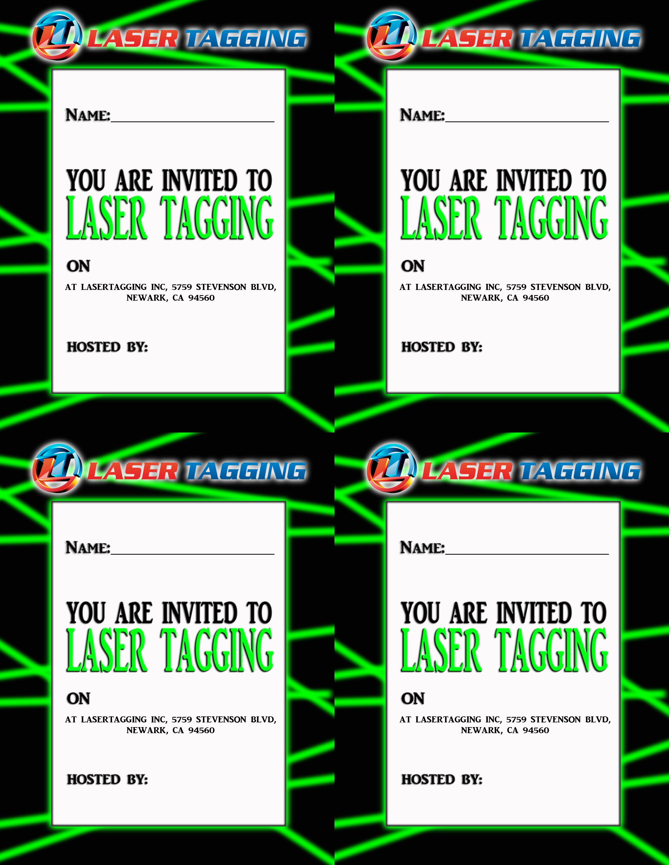 Create Laser Tag Birthday Invitations Free Templates Check more at