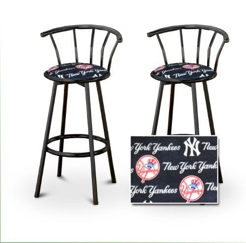 2 New York Yankees Baseball Soft FleeceMLB Custom Black Barstools With  Backre... By The Furniture Cove. $145.87. Black Metal Finish; Set Of 2 Bar  Stools.