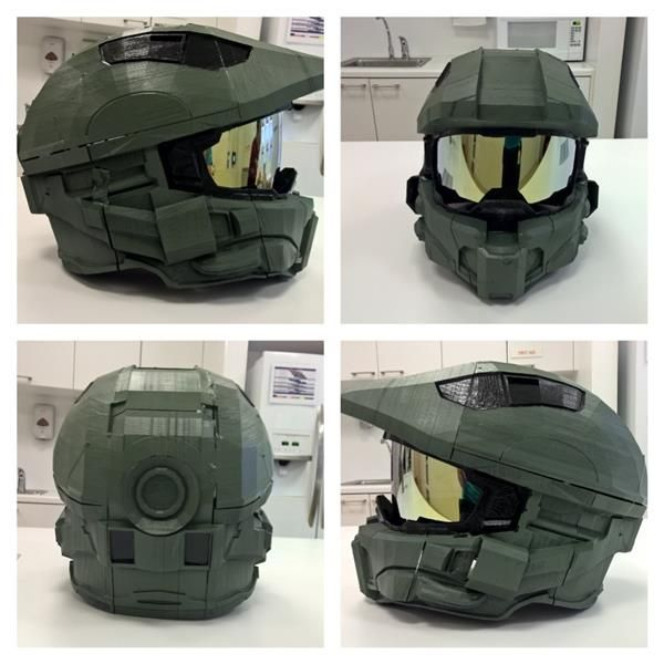3ders.org - Maker designs 3D-printed Master Chief Halo 4 helmet | 3D Printer News & 3D Printing News