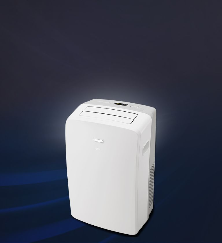 Front view of an lg portable air conditioner portable
