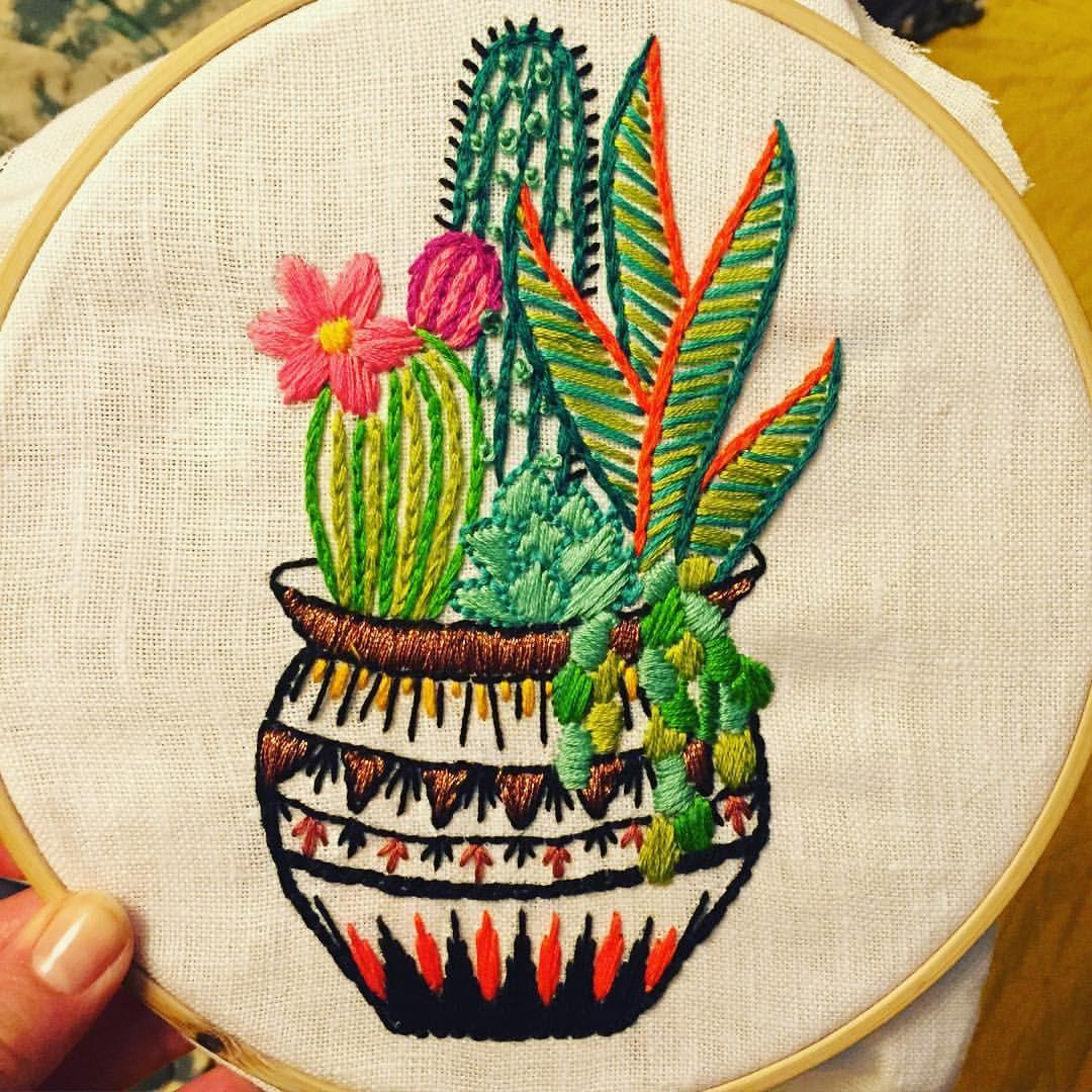 cactus bordados imágenes
