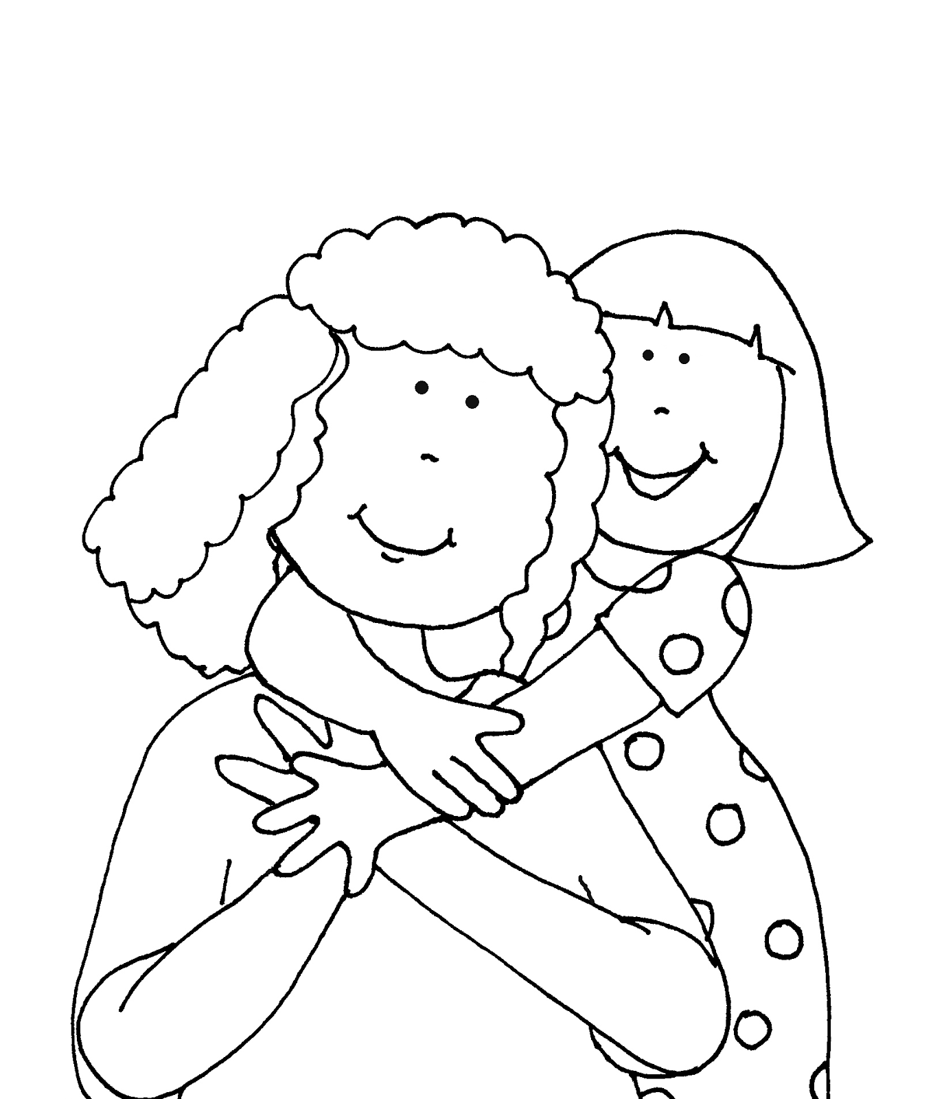 Mother Daughter Digi Stamps Sunday School Coloring Pages Free Coloring Pages