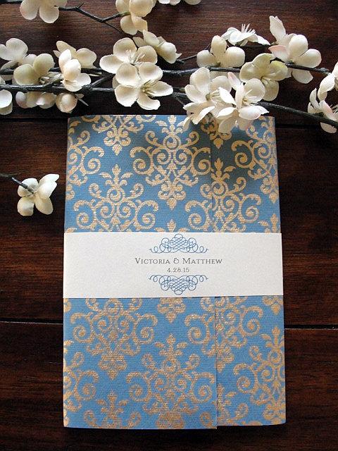 Wedding Invitation Invite Unique Por Lavenderpaperie1