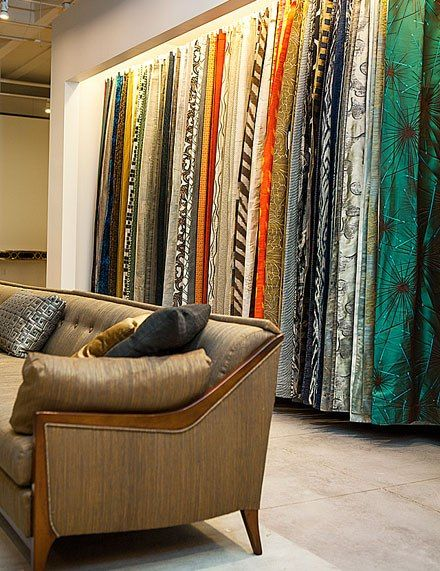 Jim Thompson S New Showroom In Atlanta S Adac Fabric Display Fabric Store Design Jim Thompson Fabric