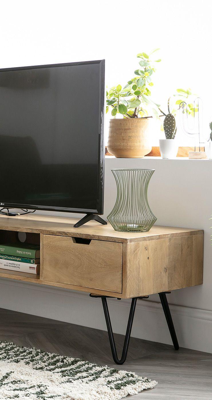 Meuble Tv En Manguier Massif Et Metal Vibes Miliboo En 2020 Console Meuble Meuble Pas Cher Mobilier De Salon