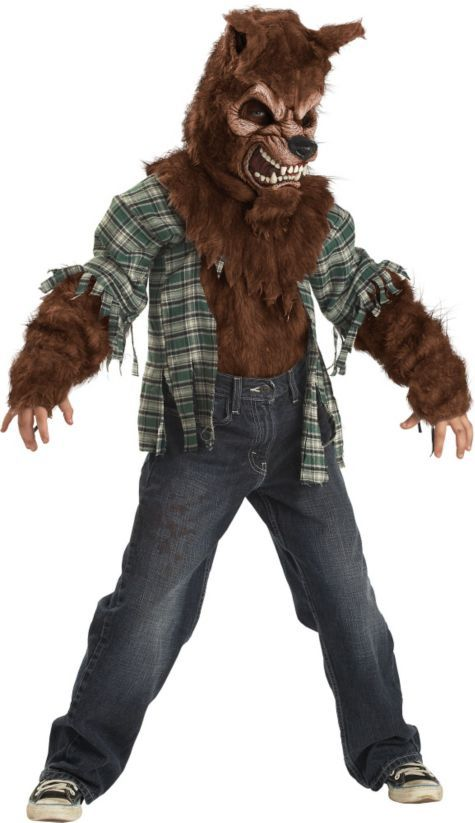Howling At The Moon Werewolf Lycans Child Costume