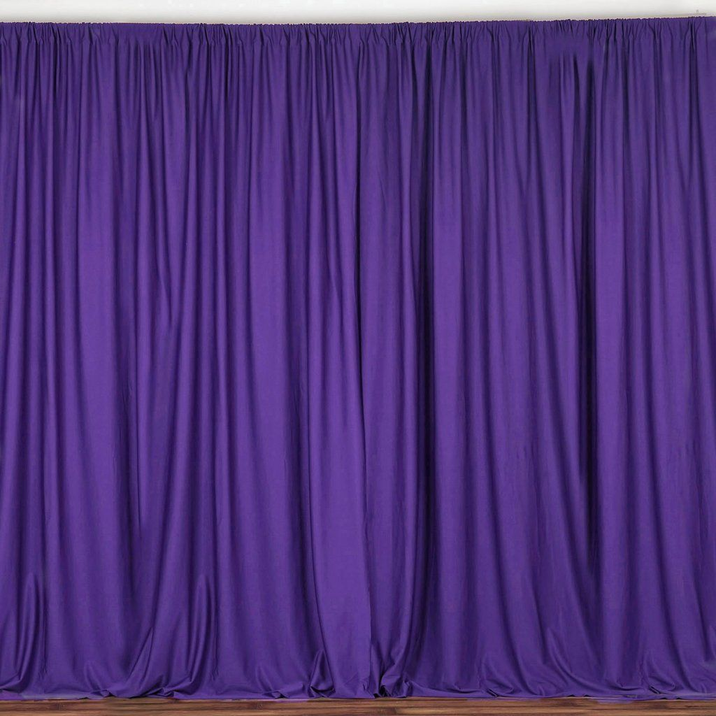 Pack Of 2 5ftx10ft Purple Fire Retardant Polyester Curtain Panel Backdrops With Rod Pockets In 2020 Panel Curtains Drapes Curtains Custom Drapes