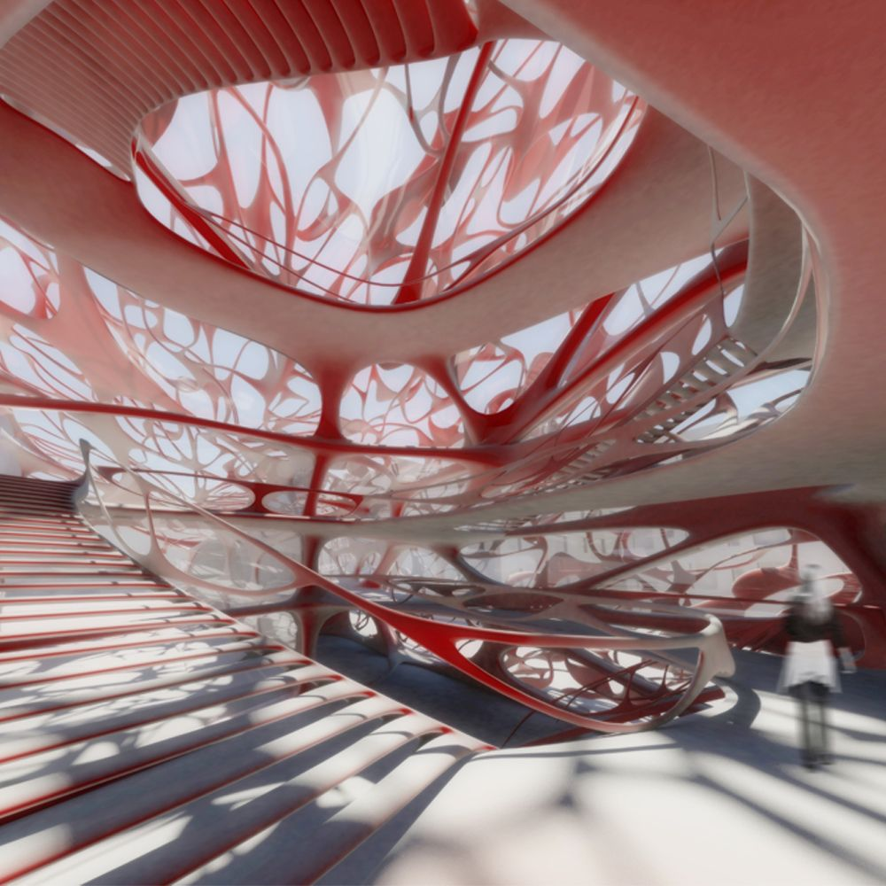 Performing arts school creating space through density for Arquitectura parametrica pdf
