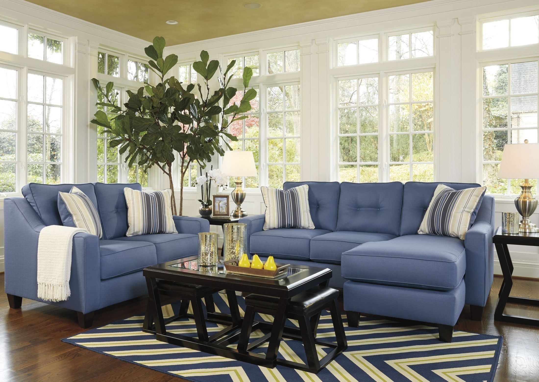 Fine Aldie Nuvella Blue Queen Sofa Chaise Sleeper Sofa Chaise Gmtry Best Dining Table And Chair Ideas Images Gmtryco