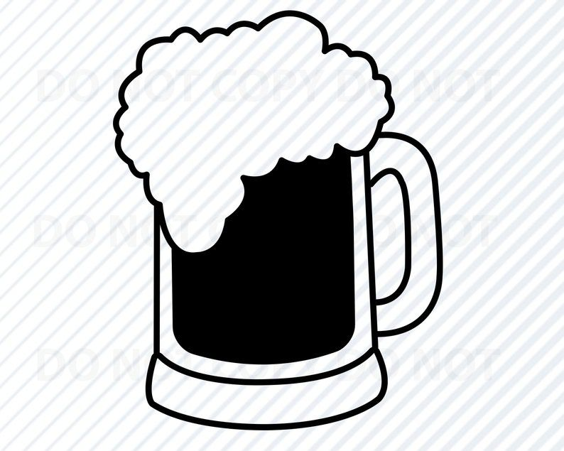 Beer 1 Svg Files For Cricut Beer Mug Vector Images Etsy In 2020 Beer Mug Clip Art Svg Files For Cricut Mug Drawing