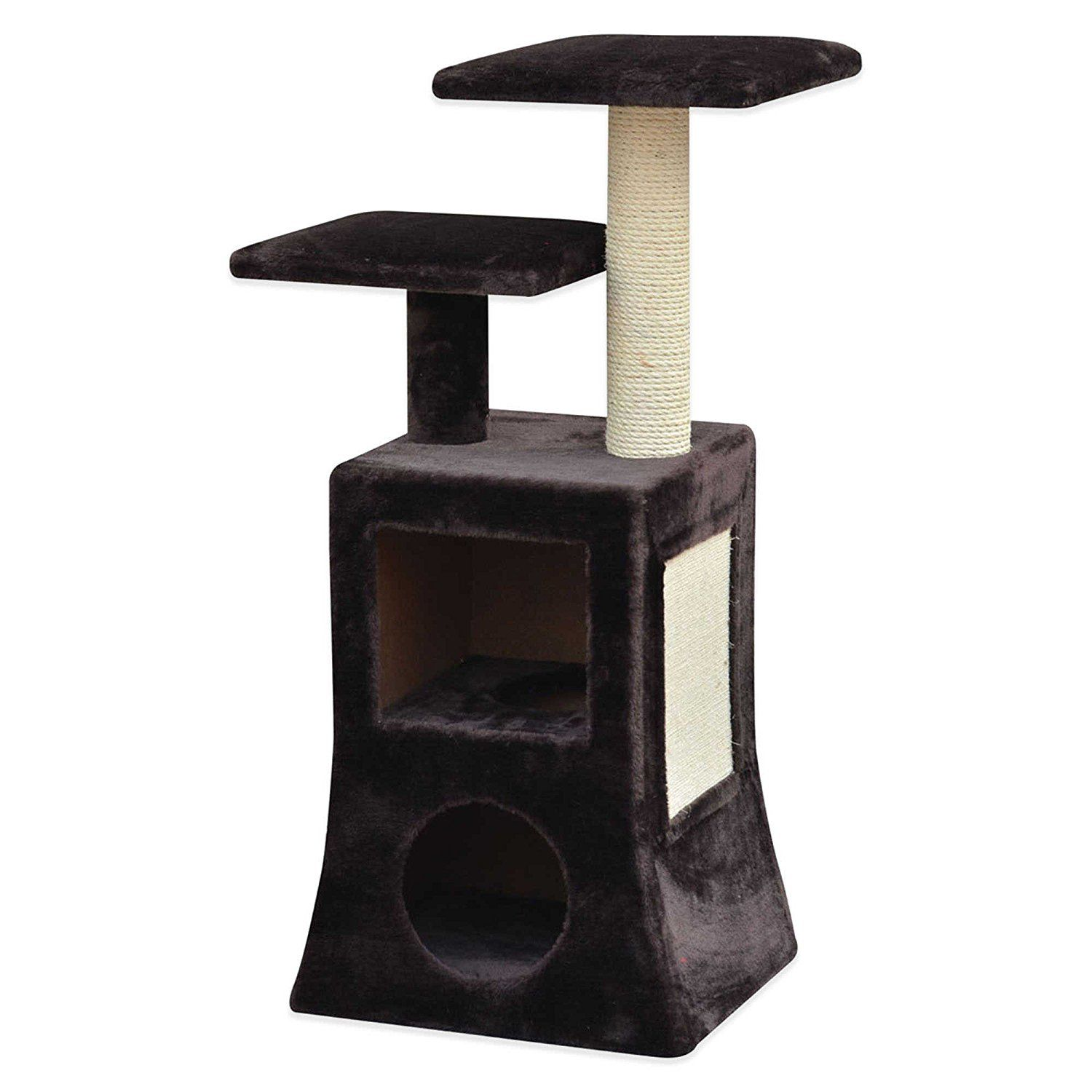 Pet Pals Modern 2 Tier Cat Condo With Fleece And Sisal In Brown White Save This Wonderfull Item Cat House Ideias