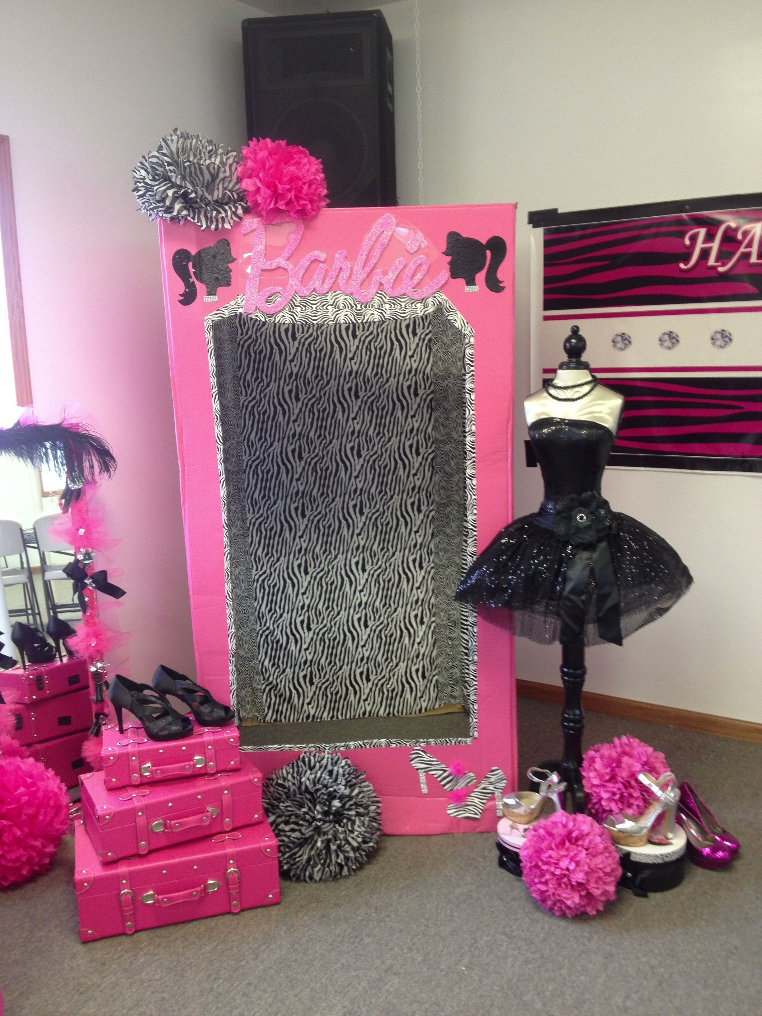 Photobox Party Barbie Photo Box Barbie Barbie Birthday Party Barbie
